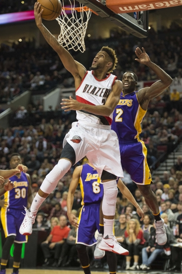 new style 07ea1 a0465 Nov 28, 2015  Portland, OR, USA  Portland Trail Blazers guard Allen Crabbe  (23) drives to the basket against Los Angeles Lakers forward Brandon Bass  (2) ...